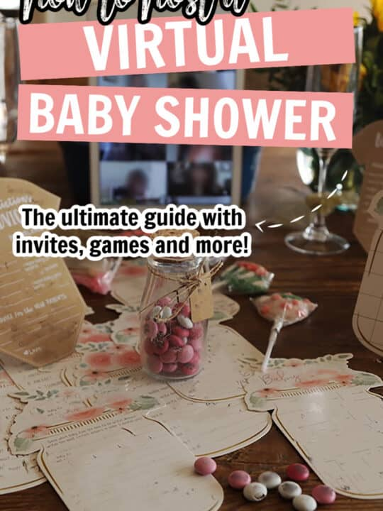 how to host a virtual baby shower pinterest pin