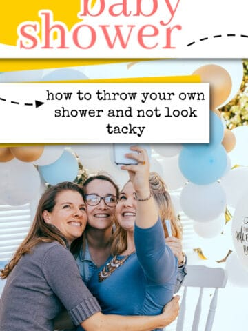 throw your own baby shower pinterest pin
